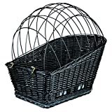 Trixie Plastic Coated Bicycle Basket With Lattice (14 × 19.5 × 21.5ins) (Black)