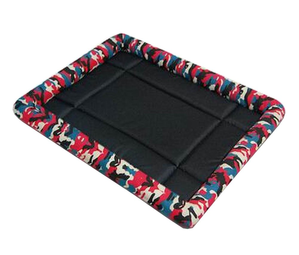 [Camo Red] Soft Pet Beds Pet Mat Pet Crate Pads Cozy Beds for Dog Cat