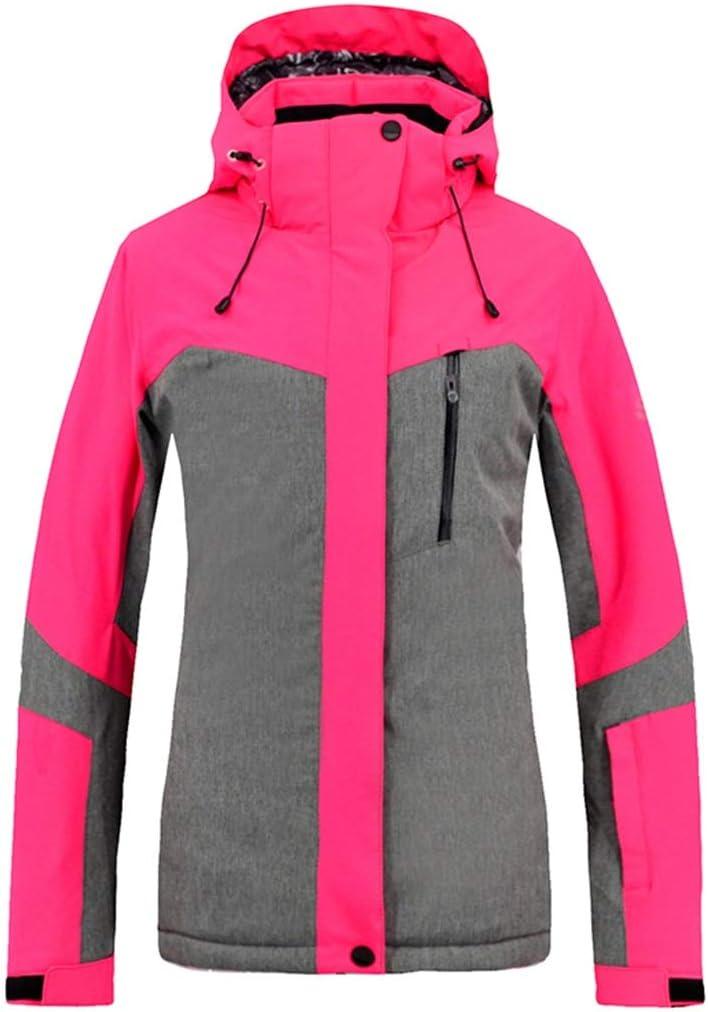 Dingfei アウトドアスポーツレディースジャケット冬のガールコートドレススキージャケットプラスサイズ (Color : ピンク, サイズ : L) ピンク Large