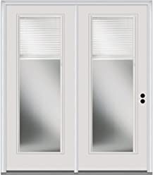 Center Hinged Patio Door National Door Company Z001629R Steel Right Hand In-Swing 68x80 Clear Low-E Glass Full Lite Primed
