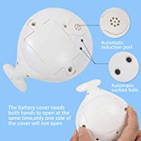 Leipal Baby Light Up Whale Bath Toys Spray Water Sprinkler Pool Bathtub Toys for Toddlers Infants Kids (White)