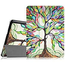 Fintie Samsung Galaxy Tab S2 9.7 Smart Shell Case - Ultra Slim Lightweight Stand Cover with Auto Sleep/Wake Feature for Samsung Galaxy Tab S2 Tablet, Love Tree
