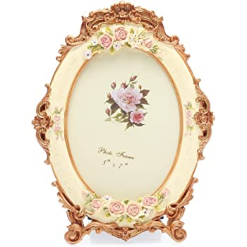 Amazon 5x7 Inches Victorian Floral Oval Picture Frame