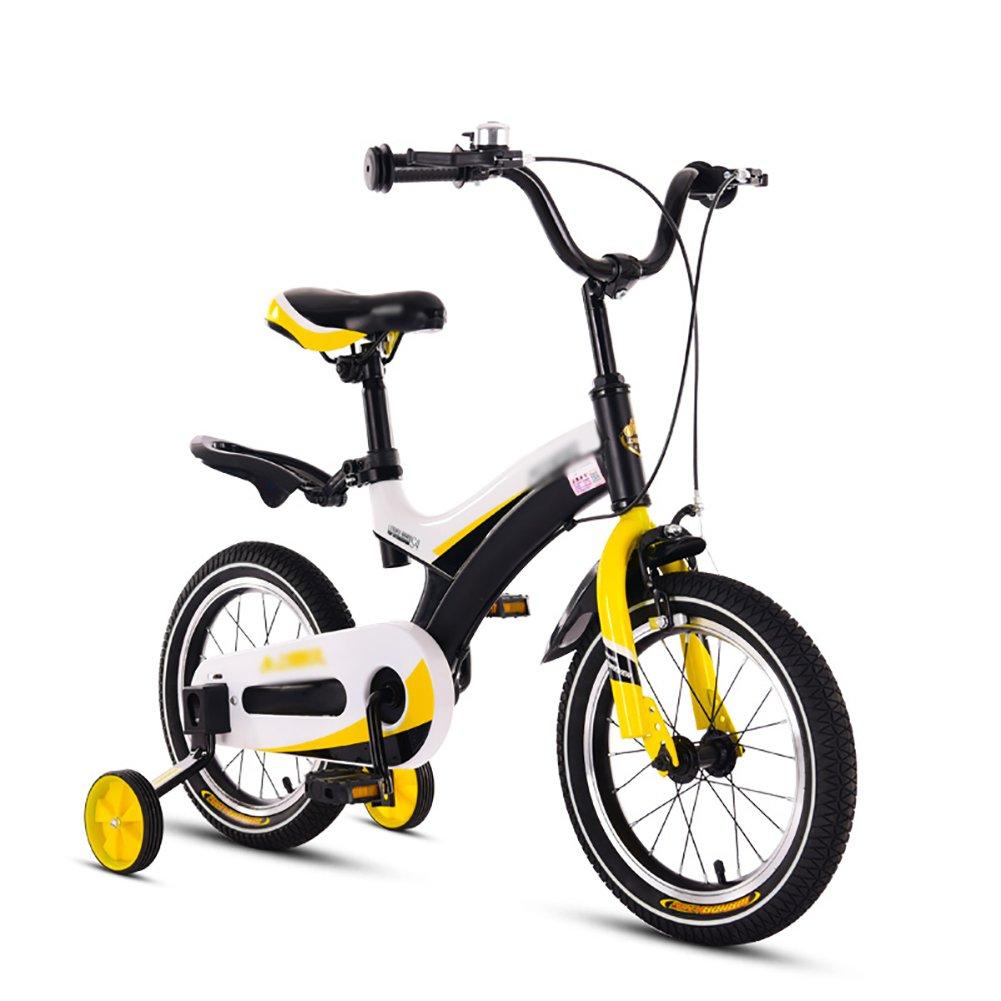 Bicicletas para niños Bicicletas Amarillas para Niños Bicicleta para Bebés 3-10 Años Pequeños 12 14 16 18 Pulgadas (Color : Spoke Wheels, Tamaño : 12 Inch)