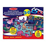 Melissa & Doug Easy-to-See 3-D Sticker Pad: Habitats-109 Reusable Stickers and 3-D Glasses
