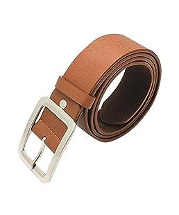 Floralby Classic Men Women Faux Leather Belts Casual Business Waist Belt Strap Brown