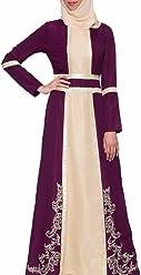 2de2bd9f24258 Artizara Asiya Purple Embroidered Formal Modest Evening Dress Gown for Women