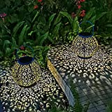 Solar Large Lantern Outdoor Hanging Lights Metal