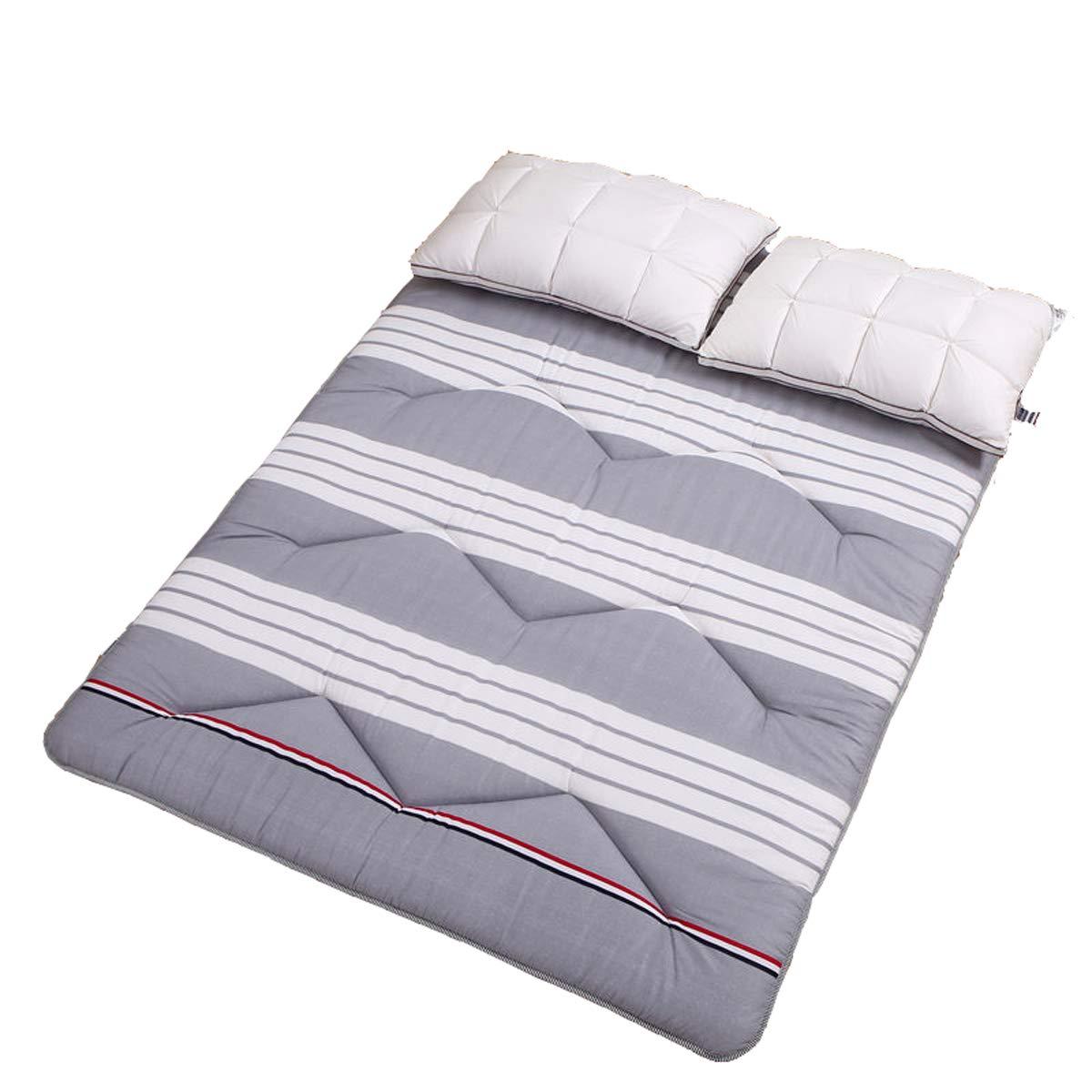 C 100200cm Mattress Topper, Sleeping Tatami Floor mat Quilted Hypoallergenic Folding Futon Mattress Soft Japanese Student Dormitory Mattress Pad,F,180  200cm