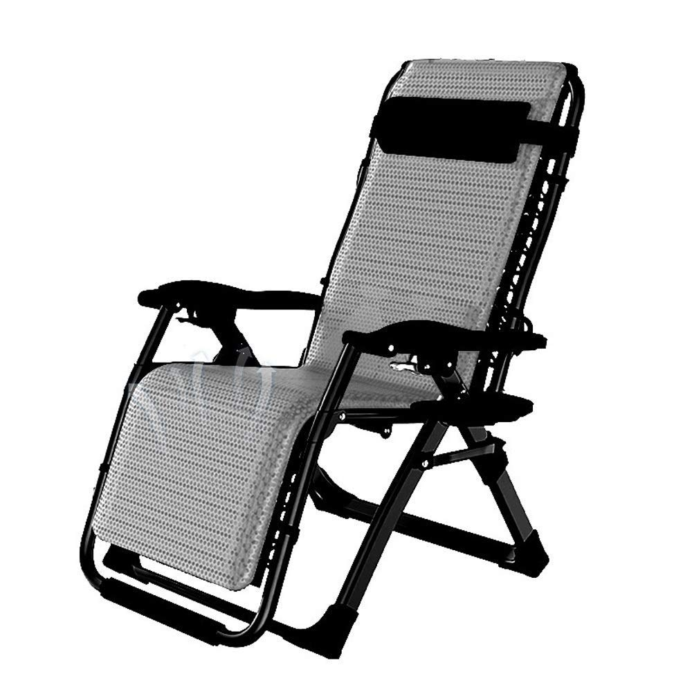 B Foldable Reclining Zero Gravity Lounger Chair ZeroGravity Recliner Terrace Outdoor Beach Lawn Camping Portable Patio Lounger Chair,A