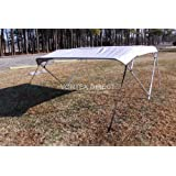 """Grey Vortex 4 Bow Bimini Top 6' Long, 85-90"""" Wide, 54"""" High, Complete Kit, Frame, Canopy, and Hardware (FAST SHIPPING - 1 TO 4 BUSINESS DAY DELIVERY)"""