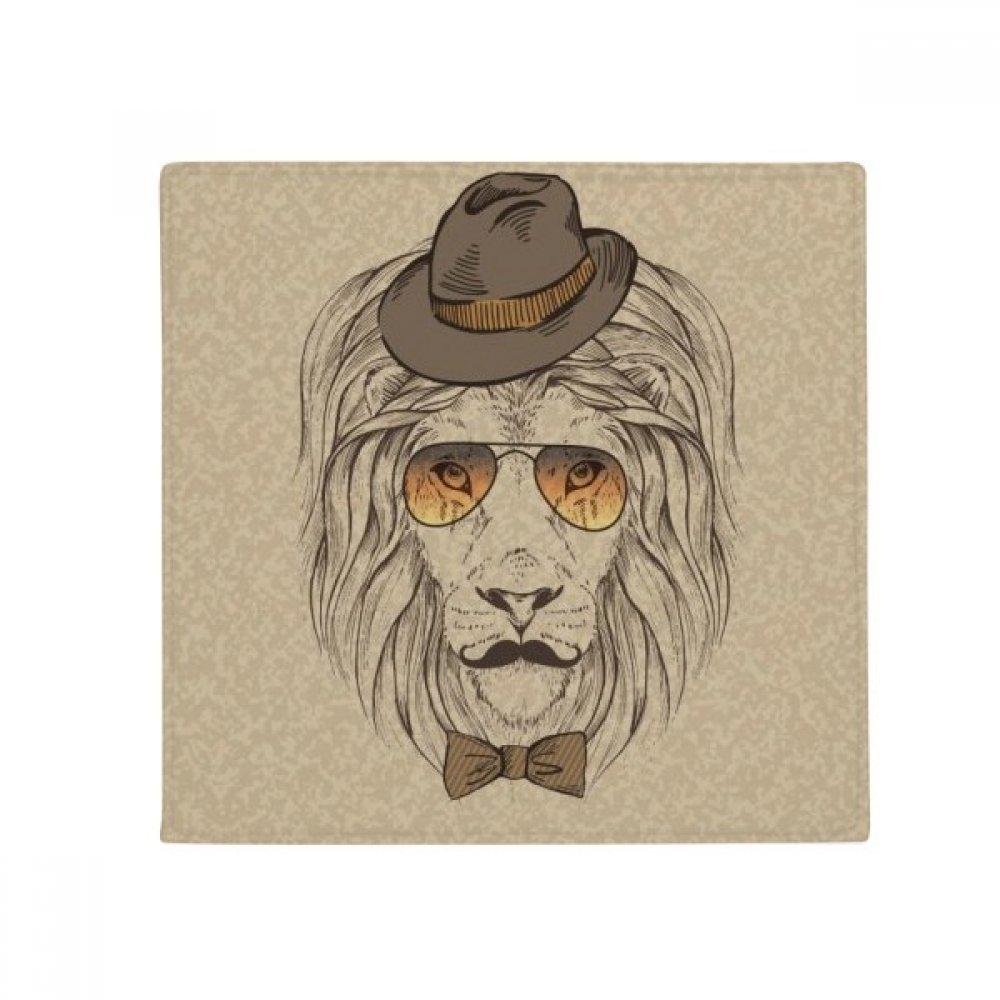 DIYthinker British Style Gentle Lion Hat Bow Tie Anti-Slip Floor Pet Mat Square Home Kitchen Door 80Cm Gift