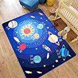 TideTex Solar System Cartoon Rugs Rectangle Bedside Baby Room Carpets Coffee Table Rugs Carpets Living Room Rug...