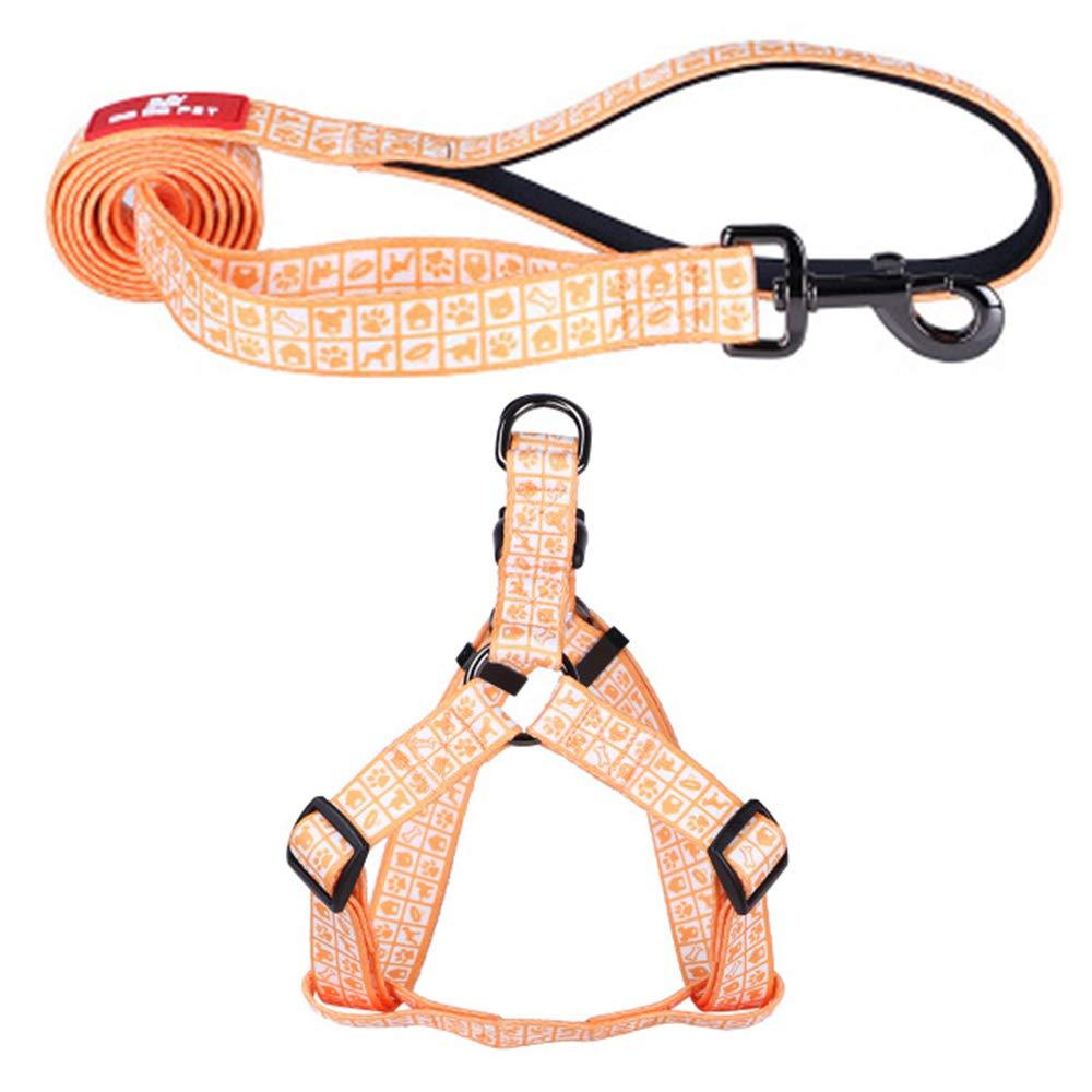 orange Medium orange Medium Explosion-Proof Polyester Soft and Comfortable Dog Leash