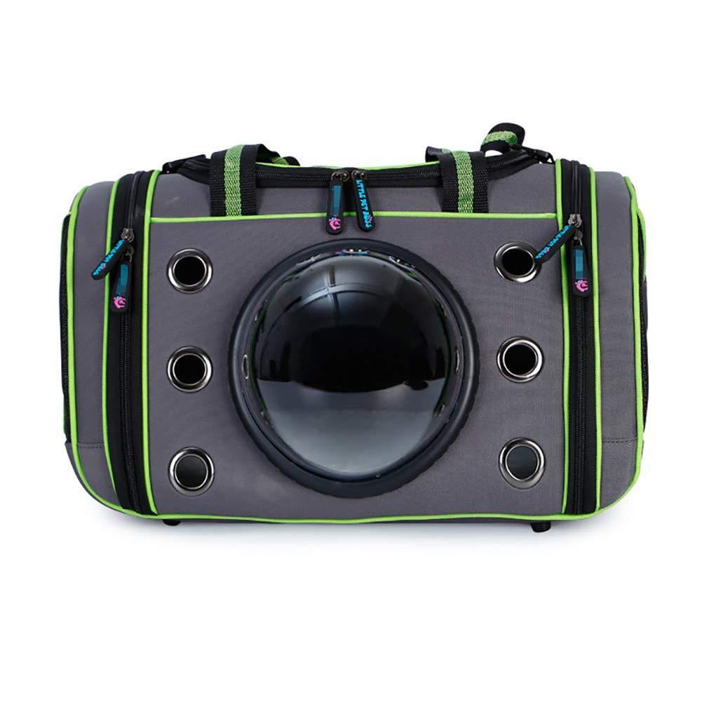 3 SYQQY Pet carrier Portable Cat dog Travel bag Crossbody bag Space capsule design Bubble backpack Breathable mesh handbag Pet backpack