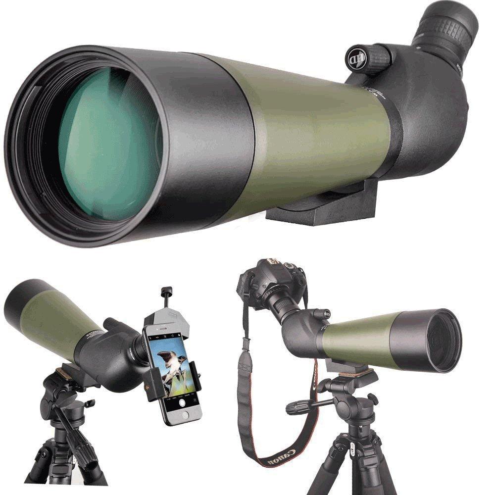 単眼望遠鏡鳥鏡12-36X50鳥のターゲットシューティングアーチェリーの範囲のためのミラー防水スコープ屋外の活動