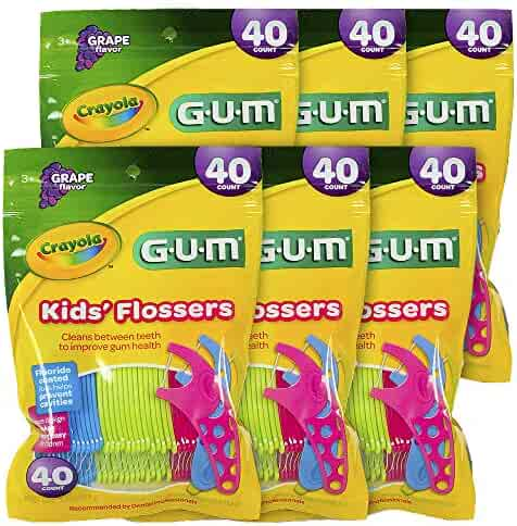 GUM Crayola Kids Flossers Grape