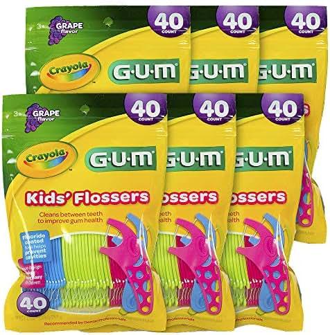 GUM Crayola Kids Flossers Grape