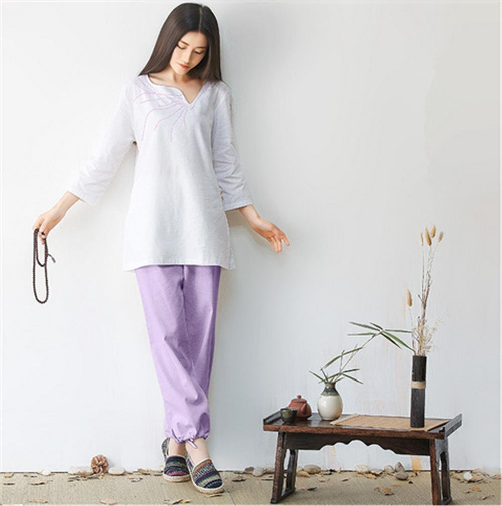 Baumwolle Leinen Yoga Kleidung Anzug komfortabel lose Yoga tragen