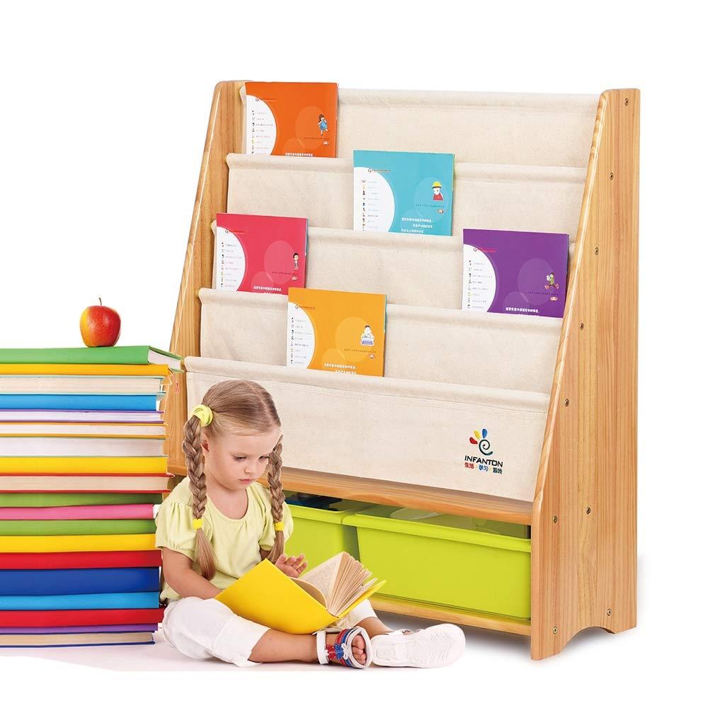 Estantería de bebé Estante para niños Estante de Libros de Kindergarten de Madera Maciza Libros de estantería Libros de visualización Libro de Cuadros estantería Estanterías