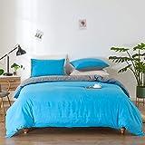SANMADROLA Duvet Cover Full Size 3pcs Bedding Duvet Cover Sets(1 Duvet Cover,2 Pillowcases) Duvet Cover Set Washed Ultra-Soft