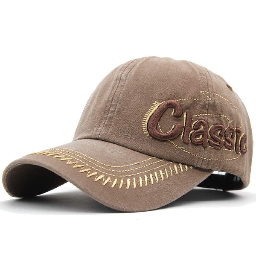 Outdoor Sports hat Baseball Cap Men Baseball Cap Women Hats for Men Washed Vintage Bone Men Hat Embroidery Dad Caps GrljdHat (color   Brown, Size   5560CM)
