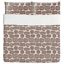 Balderdash In The Coffee Shop Duvet Bed Set 3 Piece Set Duvet Cover - 2 Pillow Shams - Luxury Microfiber, Soft, Breathable