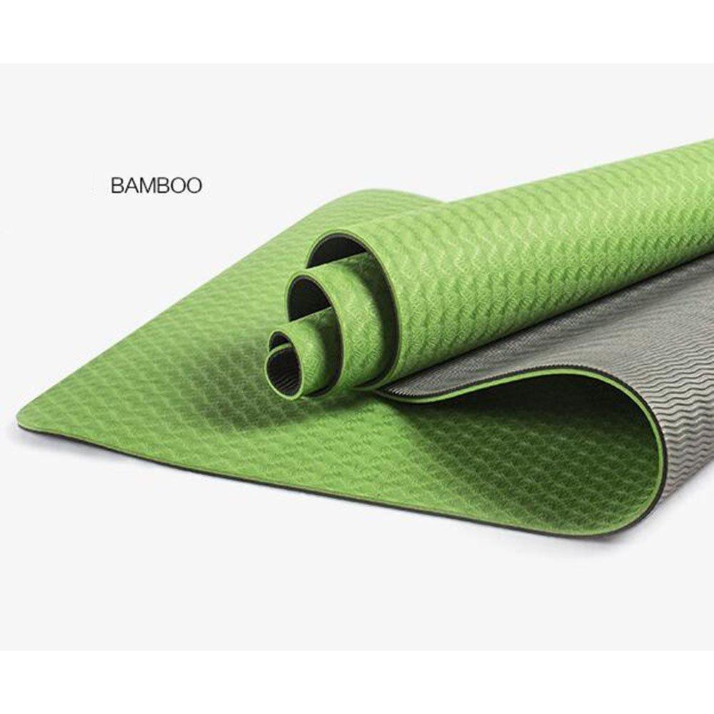 YJD Klima-hohe elastische Rutschfeste TPE-Yoga-Matten, Sieben Farben wahlweise freigestellt