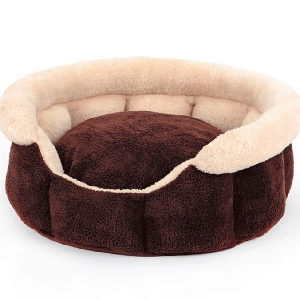 60CM Pet Nest Dog Kennel Cat Litter Sofa Cushion Warm in Autumn and Winter Washable Octagonal Nest