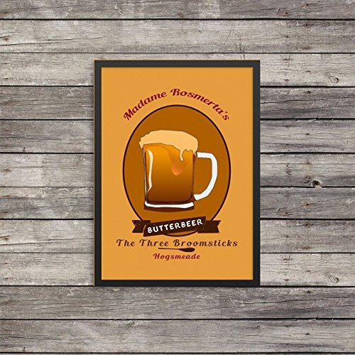 Butterbeer Poster | Harry Potter inspired poster | rusty worn look print |Three Broomsticks