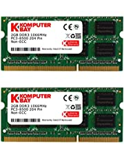 Komputerbay - Módulo de Memoria SO-DIMM (4GB, DDR3, 204 Pines, 1066 MHz, PC3 8500)