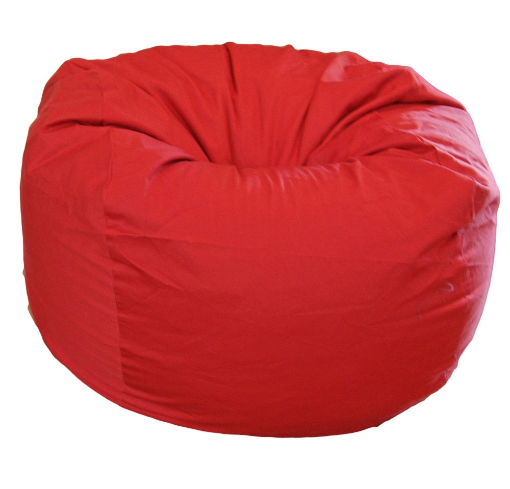 Amazon.com: Ahh! Products Red Organic Cotton Large Bean Bag Chair ...