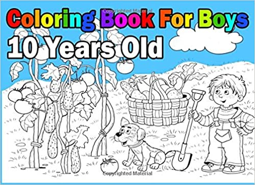 Coloring Book For Boys 10 Years Old: Landscape Format, Coloring Book In:  9781981448869: Amazon.com: Books