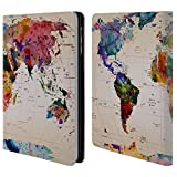 Official Mark Ashkenazi Map Of The World Pop Culture Leather Book Wallet Case Cover For Apple iPad mini 1 / 2 / 3