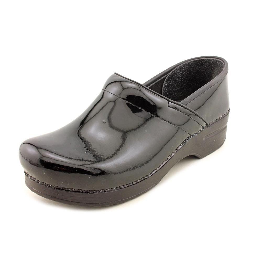 Black Patent Dansko Women's Professional Box Leather Clog