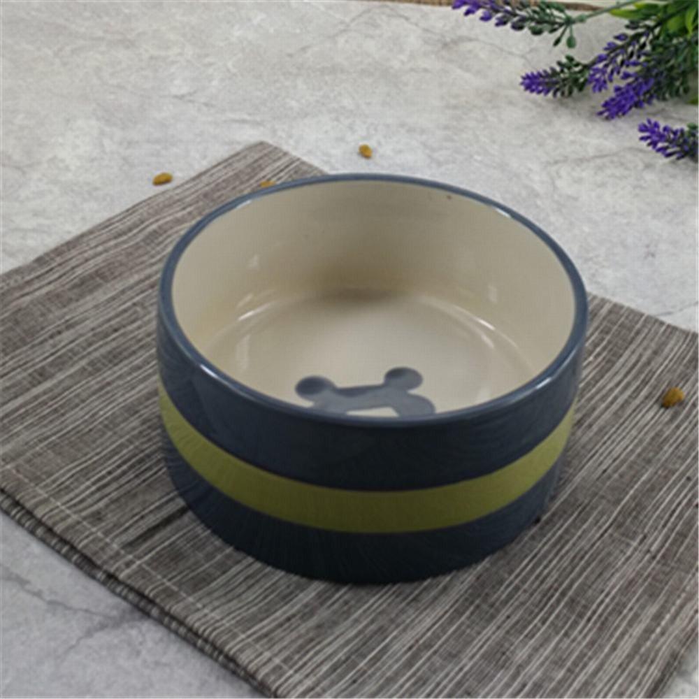 WU-pet supplies Pet Bowl Ceramic Dog Bowl cat Bowl Dog Bowl cat Bowl Cooking pots of Cats and Dogs and Cats Commodities-Rice Bowl, 15