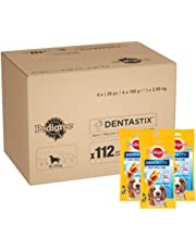 Pedigree Dentastix - Friandises pour Moyen Chien, 112 Bâtonnets à Mâcher pour L'hygiène Bucco-Dentaire (16 Sachets de 7 Sticks)