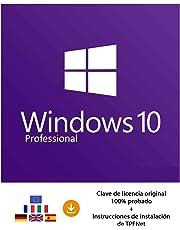 MS Windows 10 Pro 32 Bits y 64 Bits - Clave de Licencia Original por Correo Postal y Electrónico + Instrucciones de TPFNet® - Envío Máximo 60min