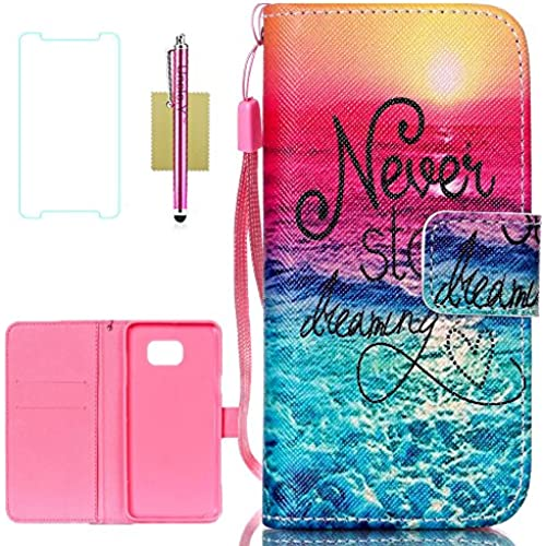 Galaxy S7 Edge Case,S7 Edge Case,Uncle.Y Pu Leather Flip Case Stand Cover Case Wallet [Lanyard Design] Case for Sales