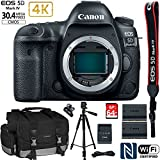 Canon EOS 5D Mark IV 30.4MP Full Frame CMOS DSLR Camera (Body) with EXTRA Canon LP-E6N Battery + 64GB Deluxe Accessory Kit