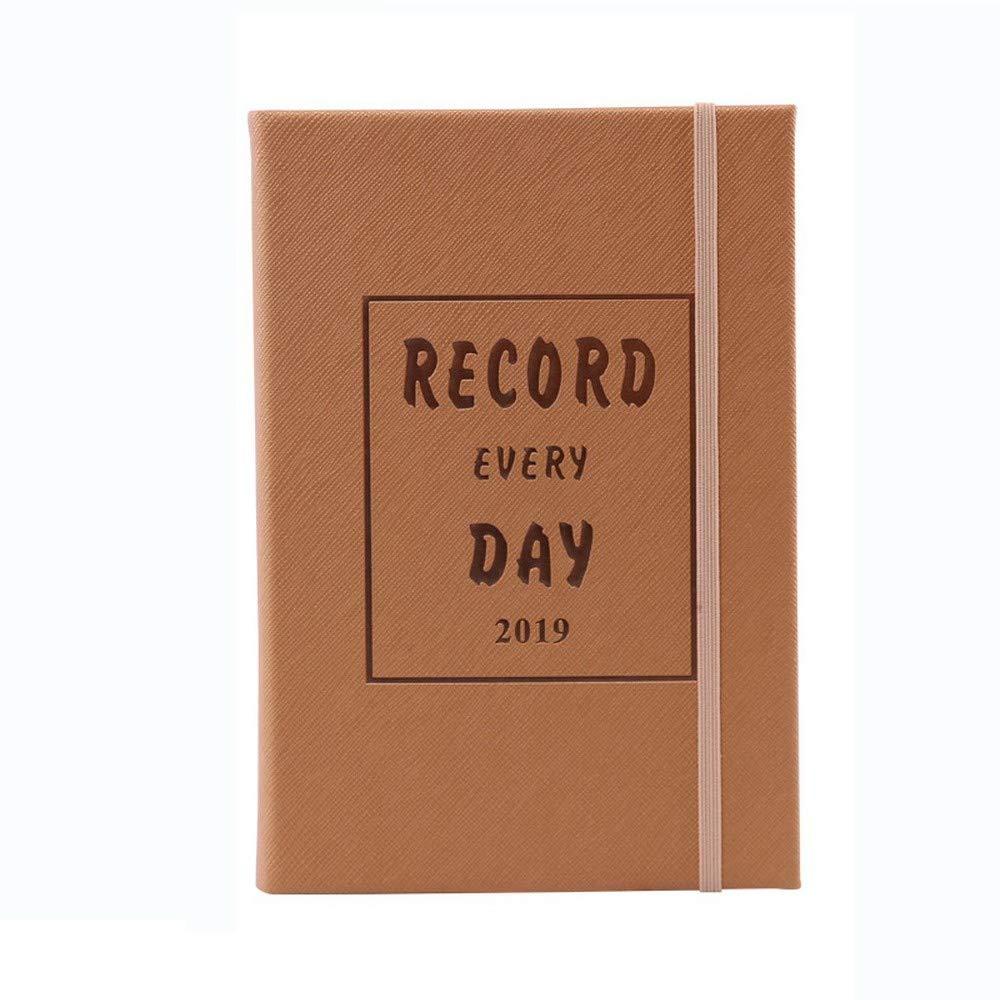 YWHY Cuaderno 2019 Programe Esta Cuenta Calendario De Calendario Cuenta A5 Calendario 365 Días Planea Este Cuaderno De Calendario, D 644e01
