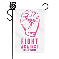 Heart Wolf Garden Flag Fight Against Breast Cancer Multicolored Flag 12 X 18 Inch