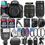Holiday Saving Bundle for D3300 DSLR Camera + 18-55mm VR Lens + Tamron 70-300mm Di LD Lens + 0.43X Wide Angle Lens + 2.2x Telephoto Lens + Flash + 2 Of 16GB Class 10 - International Version