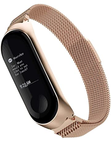 Simpeak Compatible Xiaomi Mi Band 3 Correa (5.5-6.7 Pulgadas), Milanese Loop