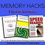 Memory Hacks: 3-Book Bundle: Memory Squared, Focus, and Speed Reading | Modern Psychology Publishing