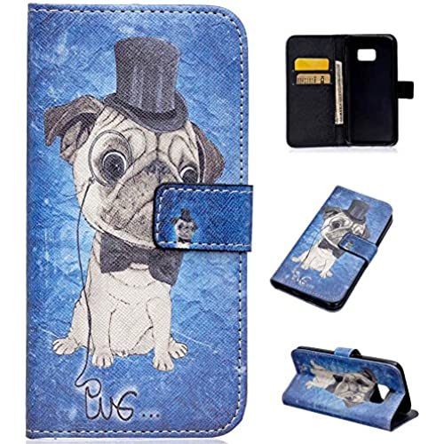 Galaxy S7 Case, S7 Case, LANDEE The unique design PU Leather Wallet Stand Flip Case Cover for Samsung Galaxy S7 (Shar Pei)(S7-P-0009) Sales