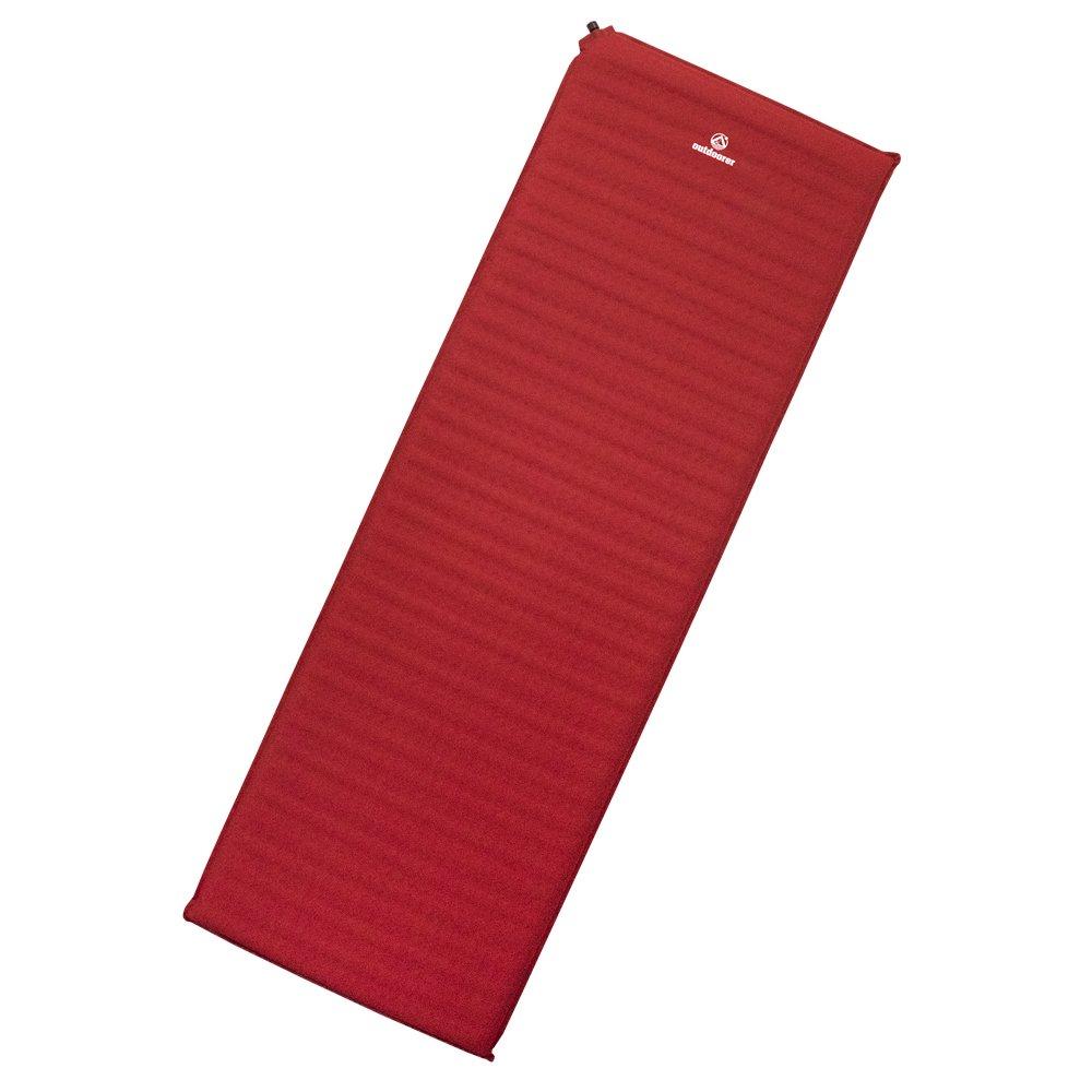 Outdoorer Trek Bed 3 große, leichte selbstaufblasende Isomatte mit mehr Komfort, rot, 5 cm
