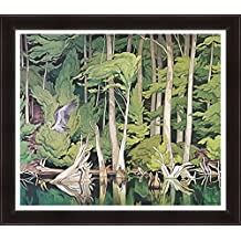 A.J. Casson Limited Edition Textured Giclee Group Of Seven Print Blue Heron