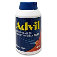 Advil Pain Reliever Fever Reducer, 200 Milligram Ibuprofen Coated Tablets, 360 Count, New Larger Size