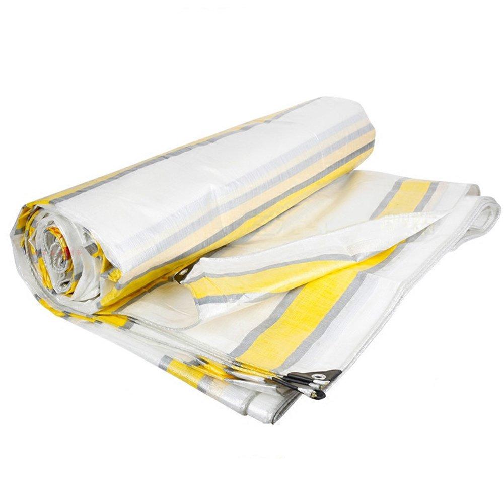 GLJ Transluzente Weiße Kunststoff-Verschlüsselung Regenschutzplane Sonnenschutz LKW-Plane Farbe Streifen Tuch Plane (Farbe : Tricolor, größe : 10x12m)